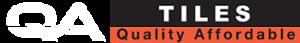 QA Tiles Logo long white